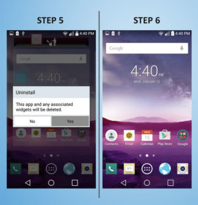 LG G3 Vigor - Delete App 5-6