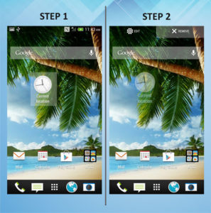 HTC One X - Remove Widget 1-2