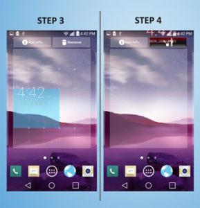 LG G3 Vigor - Remove Widget 3-4