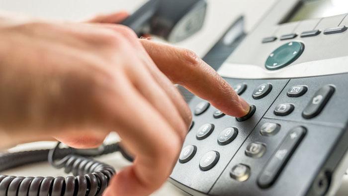 Dialing a number on a landline