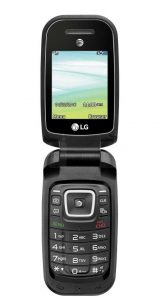 LG B470 opened front view
