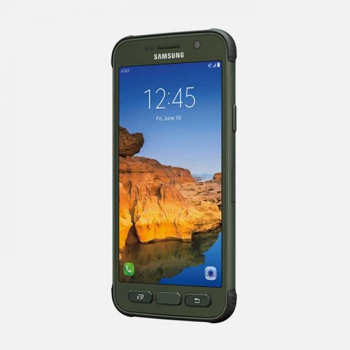 Samsung Galaxy S7 Active - Green front tilted
