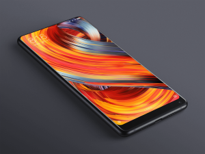 Xiaomi Mi Mix 2 on grey background