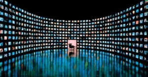 Stage with many icons from apple devices