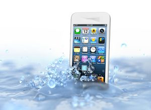 Iphone in a water splash