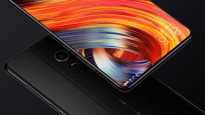 Xiaomi Mi Mix 2 front and back