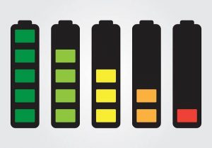 5 battery drawings, each with a lower batter