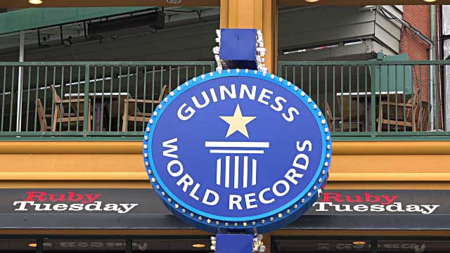Guinness World Records sign on building