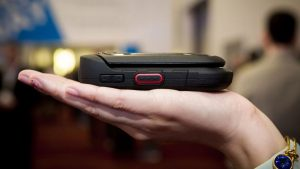 Kyocera DuraXE being held in someones hand