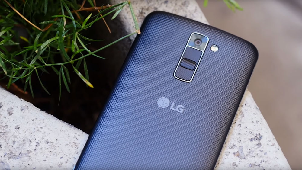 Back of LG K10 while on cement