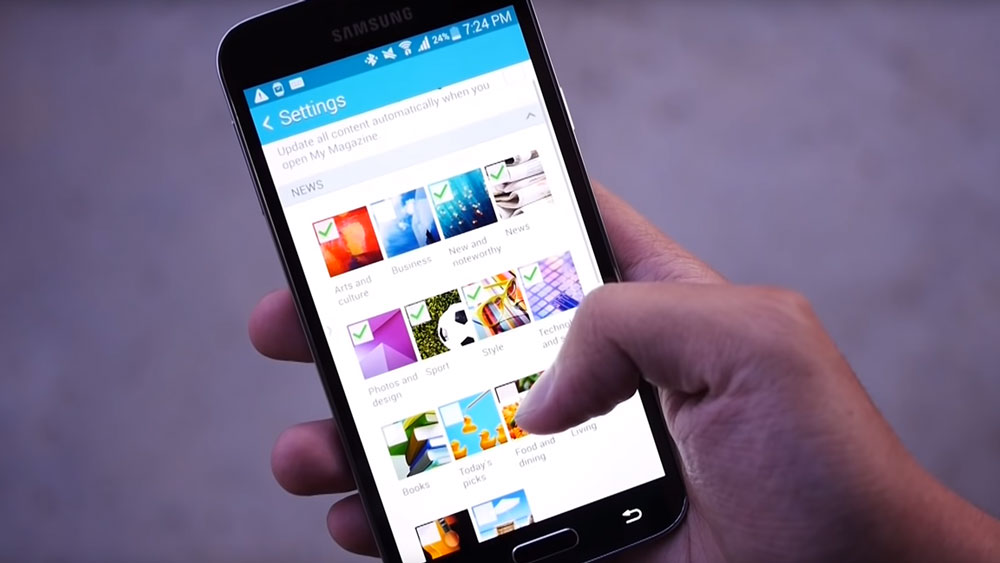 The app store open in the Samsung Galaxy S5