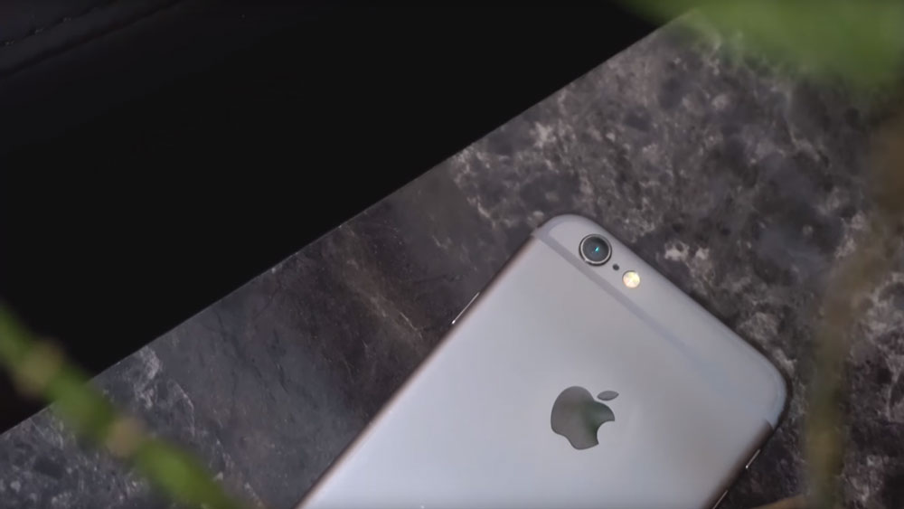 The outside of the iPhone 6 especially the camera
