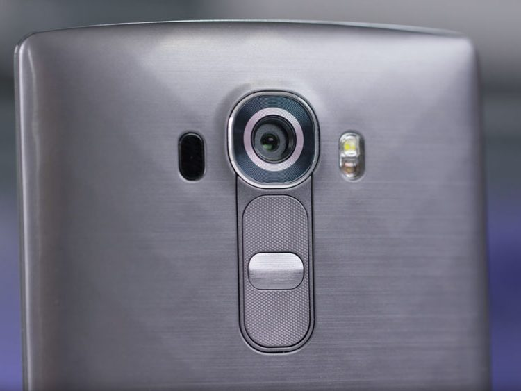 The camera lens of a LG G4