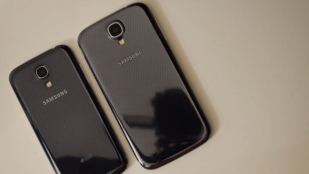 The s4 vs the Samsung Galaxy S4 Mini