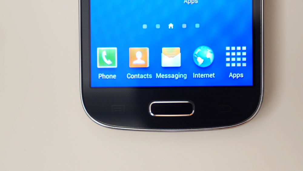 Home button on the Samsung Galaxy S4 Mini