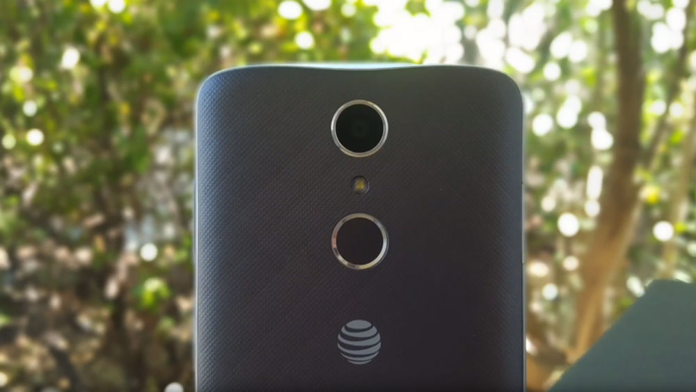 The back of the ZTE Blade Spark  showing its camera lens