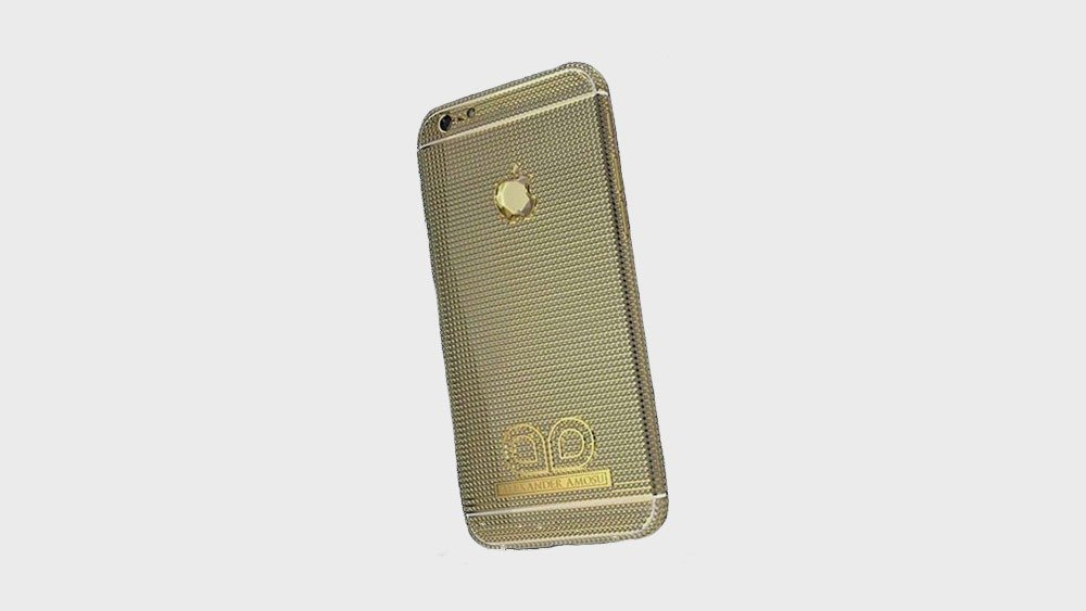 Alexander Amosu expensive phone cases in gold