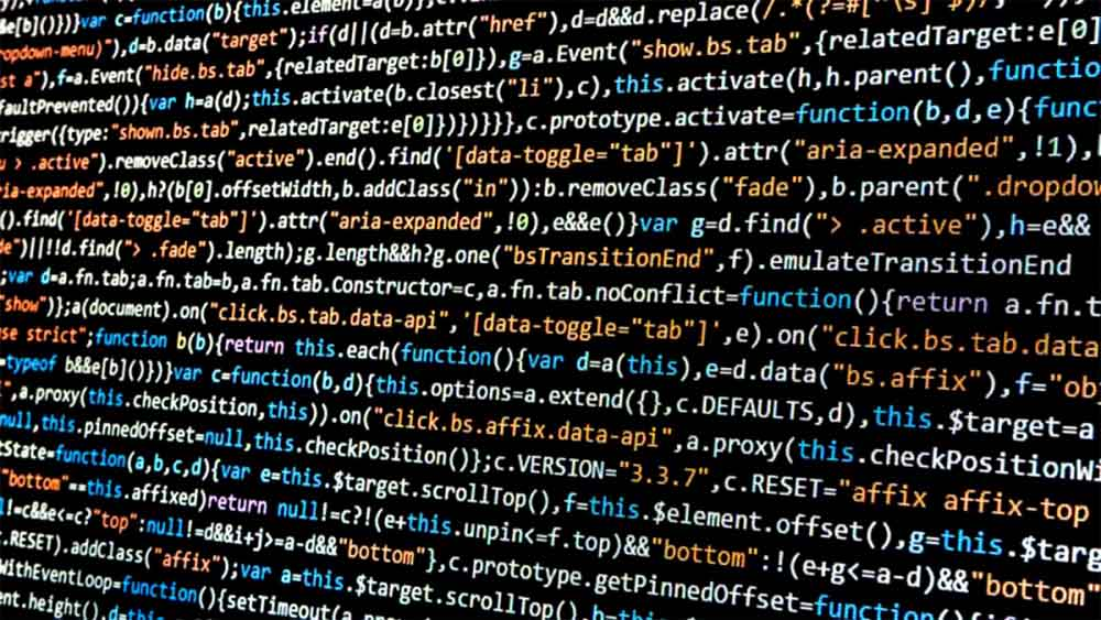 Colorful Code on Black Computer Screen