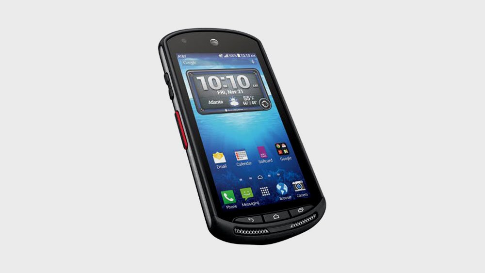 Kyocera duraforce tilted front view