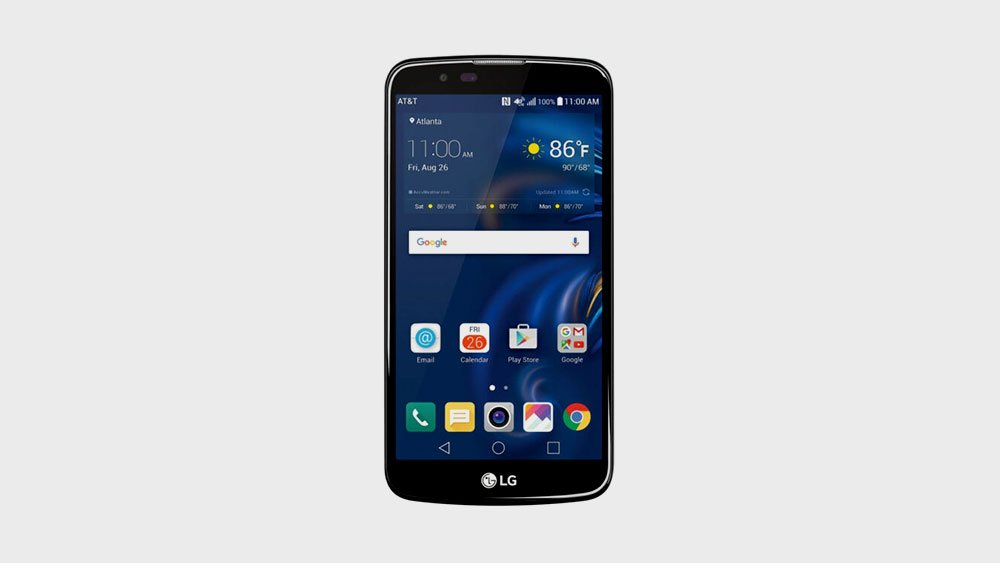 LG k10 front view