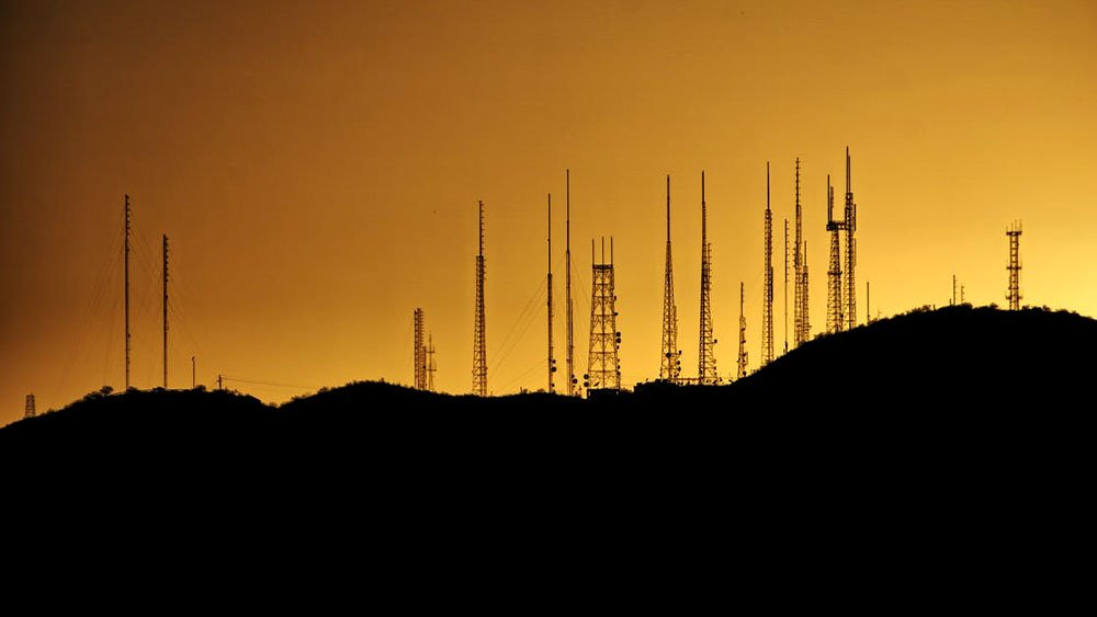 many cellphone towers