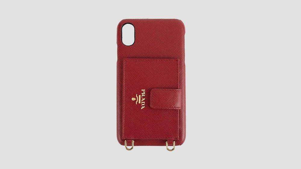 prada leather phone case