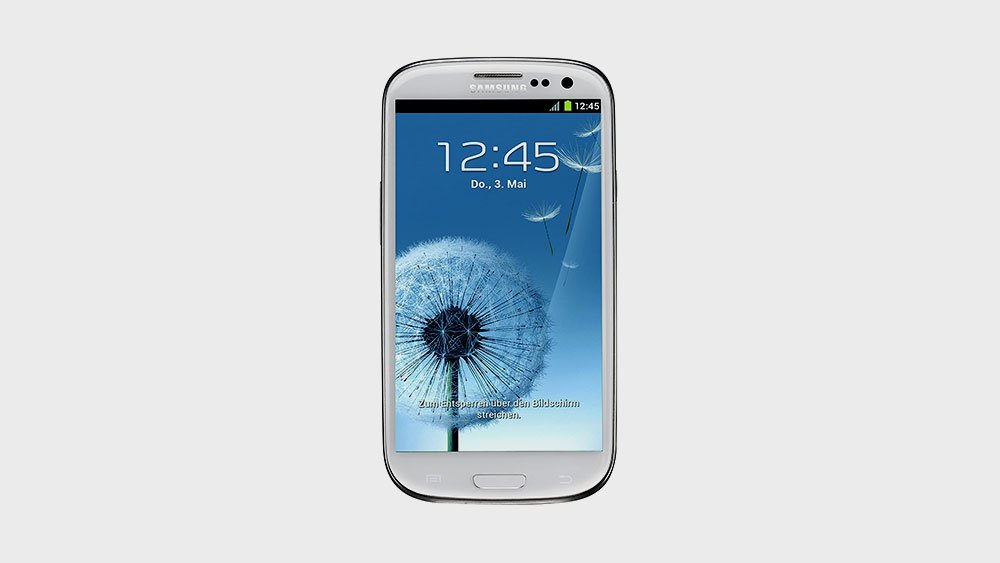 samsung galaxy s3 front view