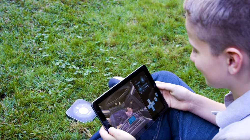 young boy on tablet connect to hotspot