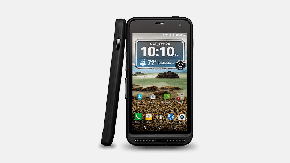 Kyocera Duraforce XD Front and Tilted Side View