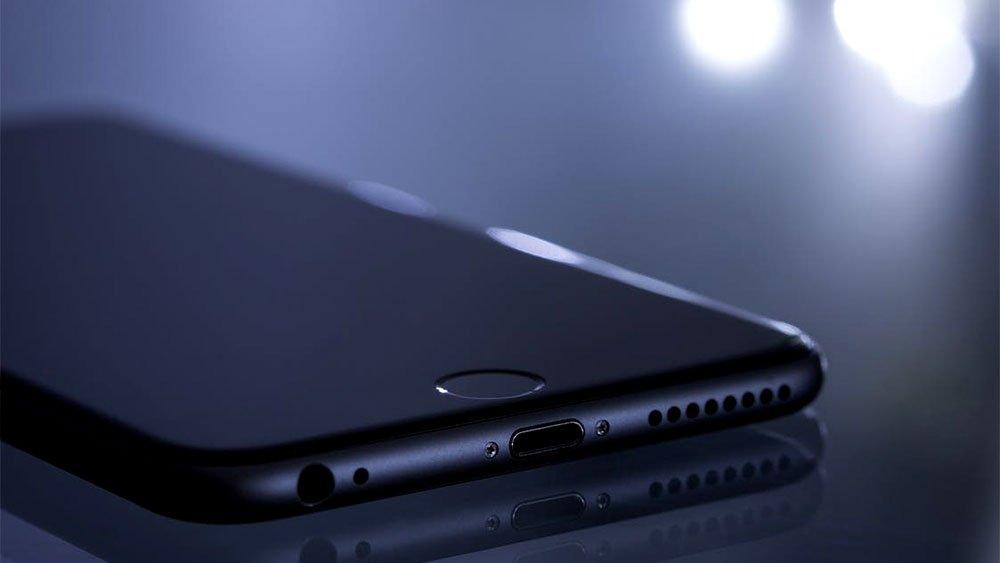 dark close up of smartphone iphone