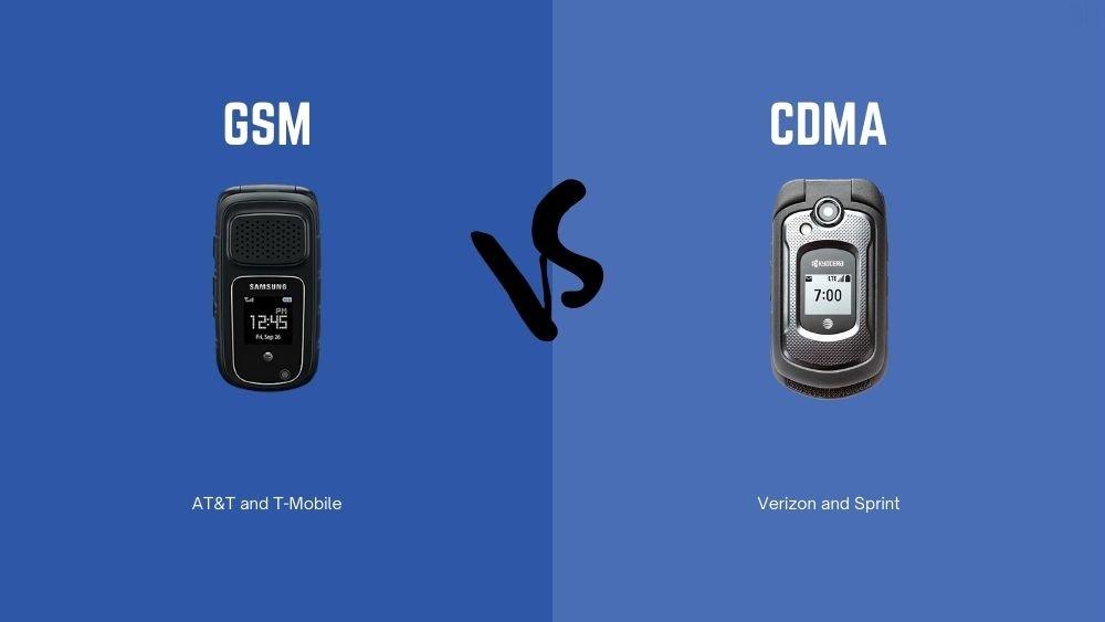 Comparison Graphics GSM vs CDMA ATT Tmobile Verizon